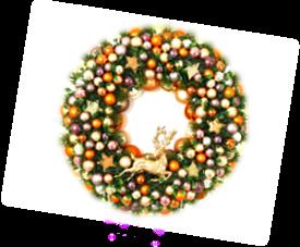 Weihnachtskranz Orange
