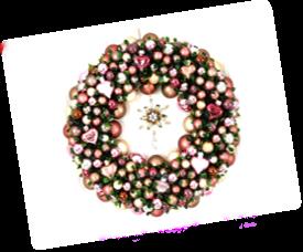 Weihnachtskranz Rosa